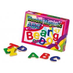 Houten magneet letters