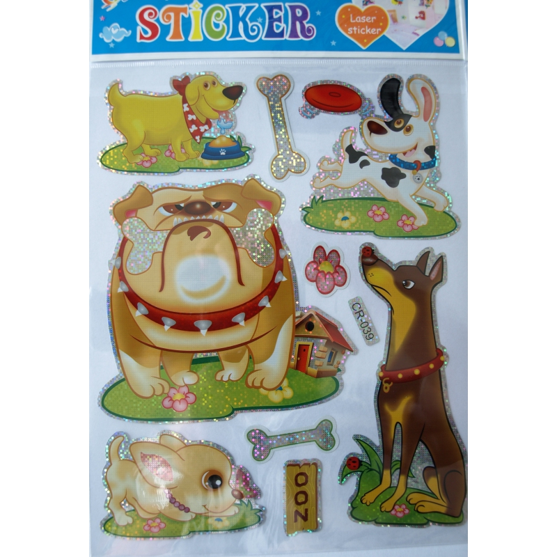 Mega laser stickers