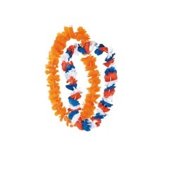 Hawaikrans oranje of rood/wit/blauw