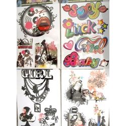 Textiel opstrijk stickers