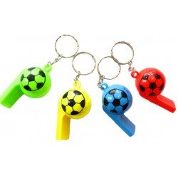 Sleutelhanger voetbalfluitje