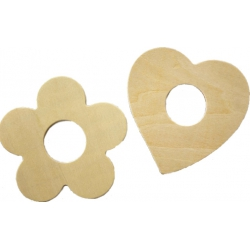 Blank houten servet ring