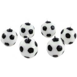 Voetbal kaarsjes (6 sts)