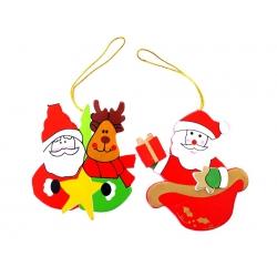 Houten kersthanger (kerstman)