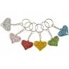 Sleutelhanger hart glitter