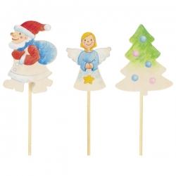 Blank houten kerst steker