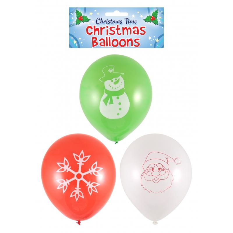 Kerst ballonnen (15 sts)