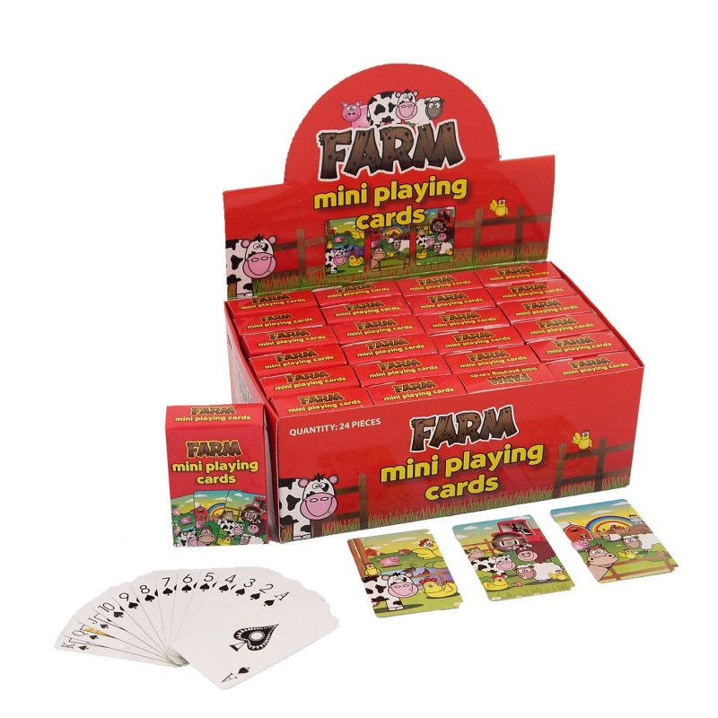 Mini speelkaarten boerderijdieren