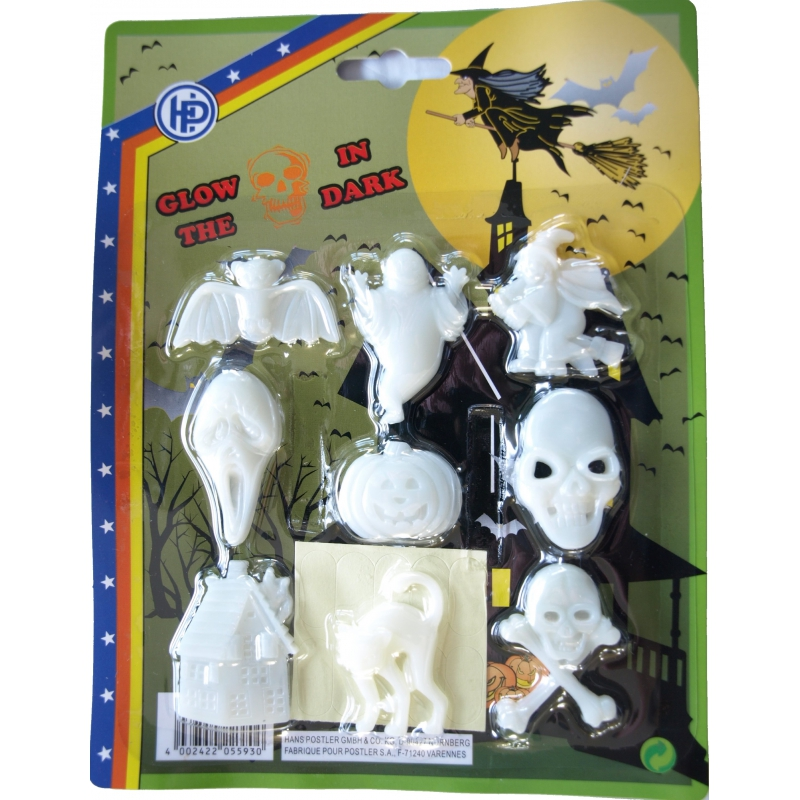 Glow in the dark griezel figuren