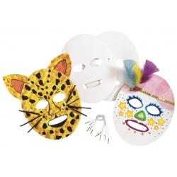 Blanco karton masker