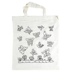 """Voorbedrukte tas """"vlinders"""""""