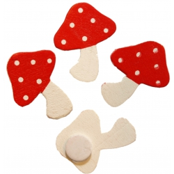 Deco plakker paddenstoel