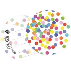 Uitnodiging confetti