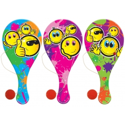 Houten racket smile