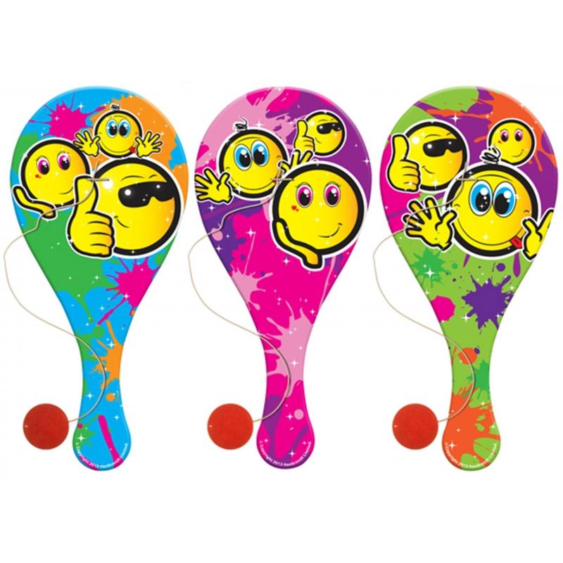 Houten racket smile