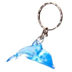 Sleutelhanger dolfijn blauw
