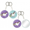 Sleutelhanger unicorn met spiegel