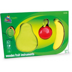 Houten fruit muziekset