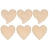 Houten harten (set van 6)