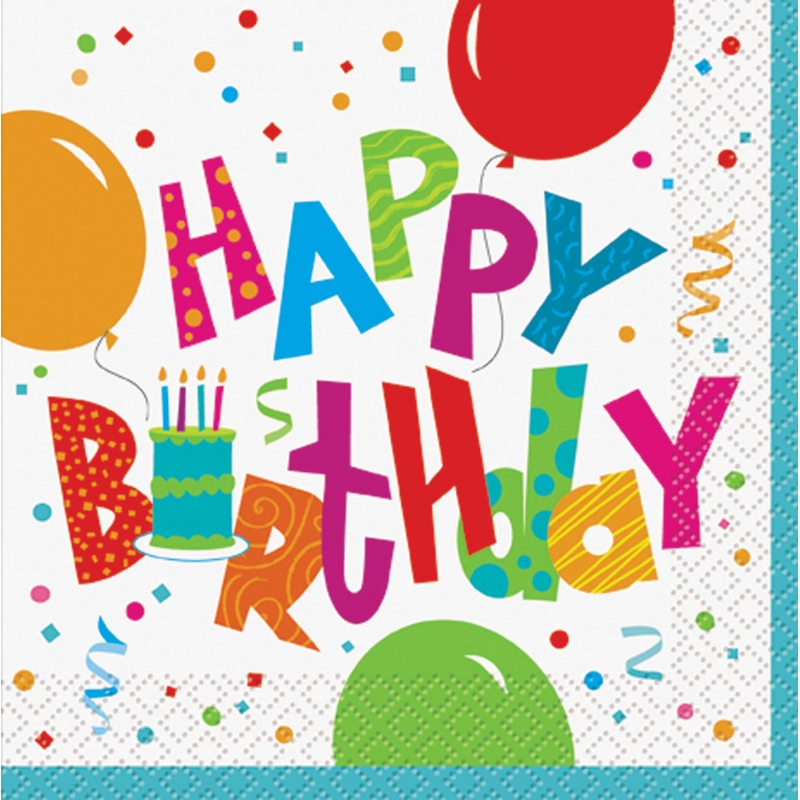 Happy Birthday servetten Jamboree