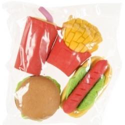 Gummetjes fastfood (set van 4)