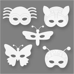 Blanco maskers insecten (set van 16)