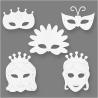 Blanco maskers prinses / fee (set van 16)