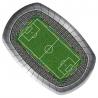 Voetbalstadion borden / schalen (8 st)