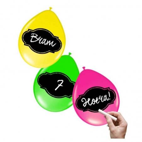 Feestlijn krijtbord ballonnen (6st)