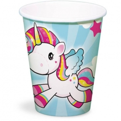 Unicorn bekers (8st)