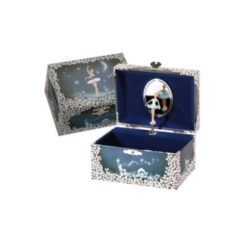 Juwelendoos ballerina blauw
