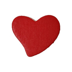 Deco hartje rood