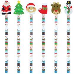 Kerst potlood met gum