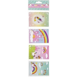 Notitieboekje unicorn (set van 4)