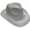 Glitter hoed zilver luxe