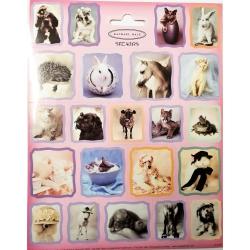 Stickervel dieren