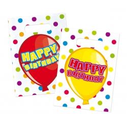 Happy birthday feestzakjes (6 st)