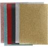 Glitter textiel opstrijkfolie (6 vellen)