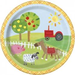 Boerderij gebaksbordjes (8 st)