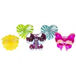 Kinderring hart, bloem, vlinder