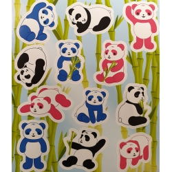 Fun stickers panda