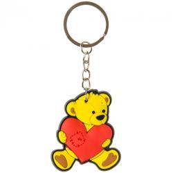 Sleutelhanger beer met hart